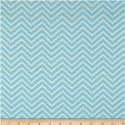 Bright Now Mini Chevron Aqua