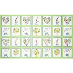 OOO Baby Flannel Patchwork Panel Green