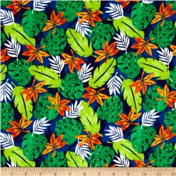 Dino-Myte Flannel Leaves Blue