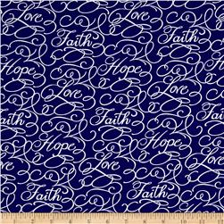 Faith Words Navy