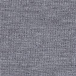 French Terry Knit Solid Heather Gray