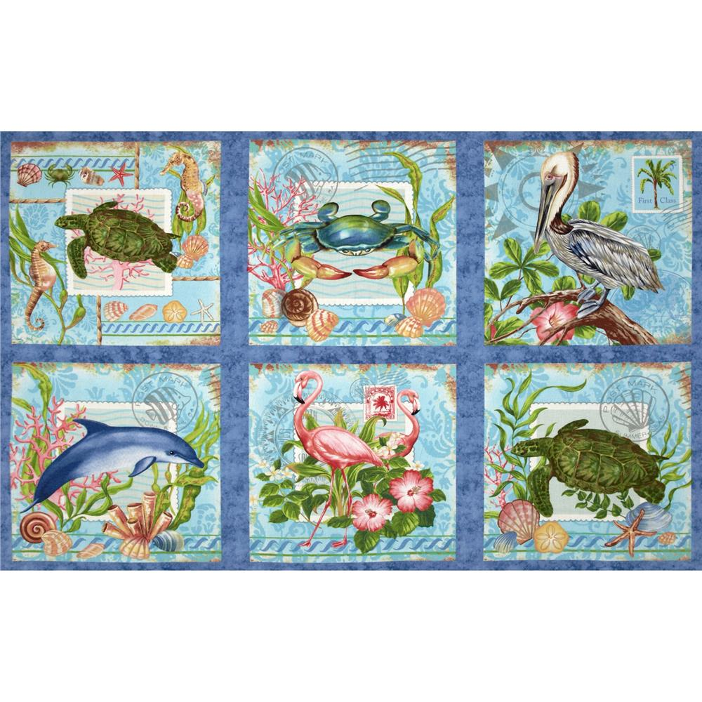 Neptune's Garden Craft Panel Blue/Multi