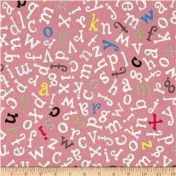 Monkey's Bizness ABC to Z Tossed Alphabet Dusty Pink