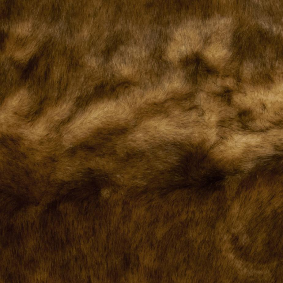 Faux Fur Wild Mink Fur Light Brown