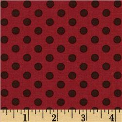 Moda Hearts Content Poke Dot Heart Warming Red