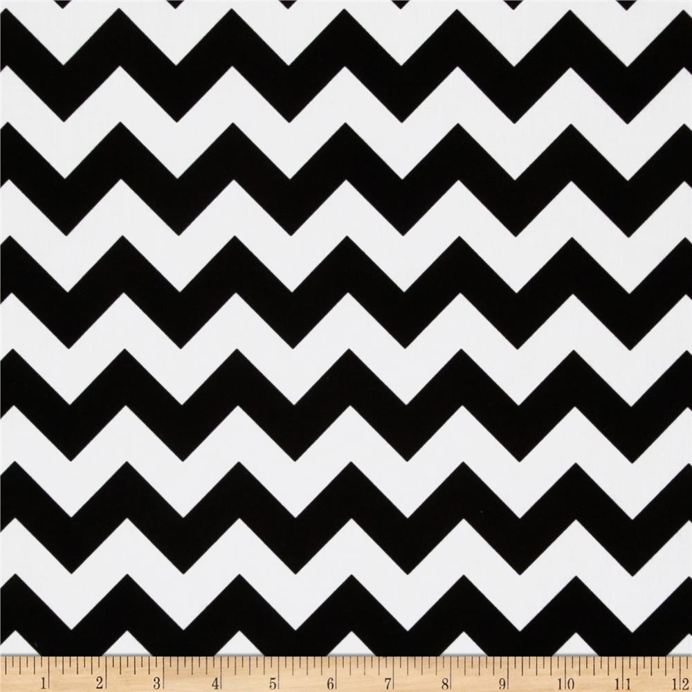 Riley Blake Cotton Jersey Knit Small Chevron Black Fabric