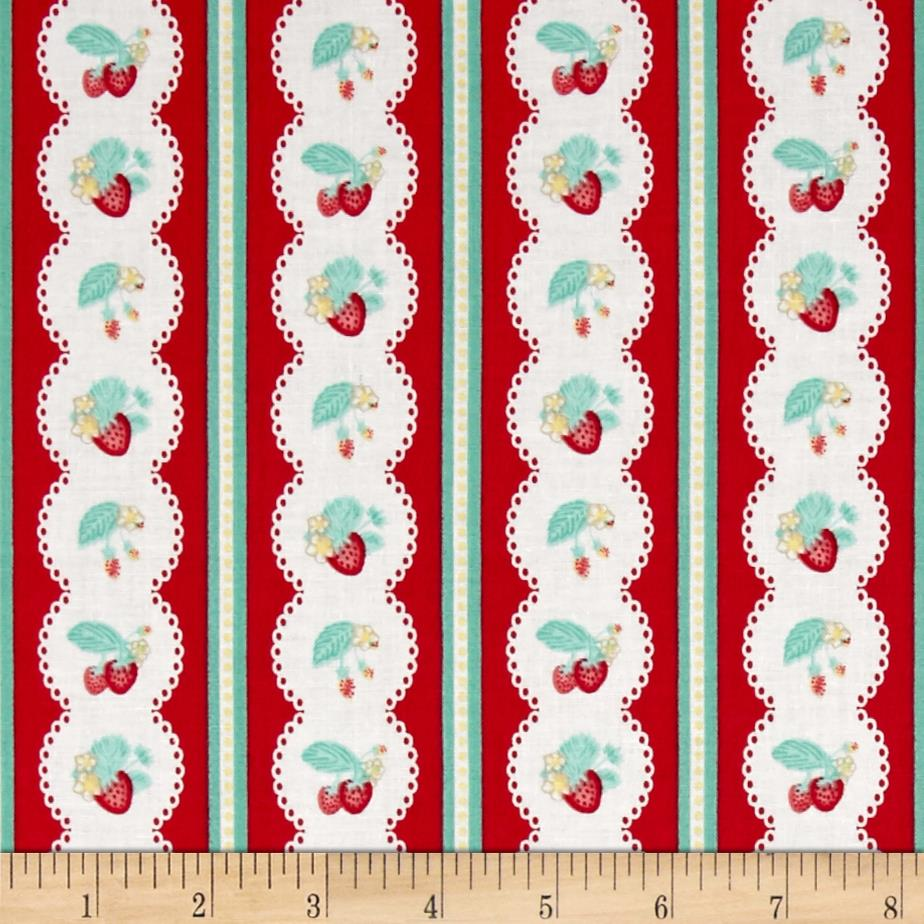Penny Rose Shabby Strawberry Stripe Red
