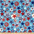 Stars & Stripes II Stars & Dots Red/White/Blue