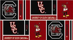 Collegiate Cotton Broadcloth University of South Carolina Squares