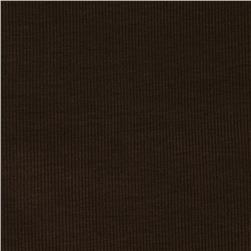 Ultra Stretch Rayon Rib Knit Dark Brown