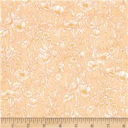 Watercolor Garden Floral Breeze Apricot
