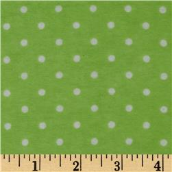 Dreamland Flannel Swiss Dots Green Apple
