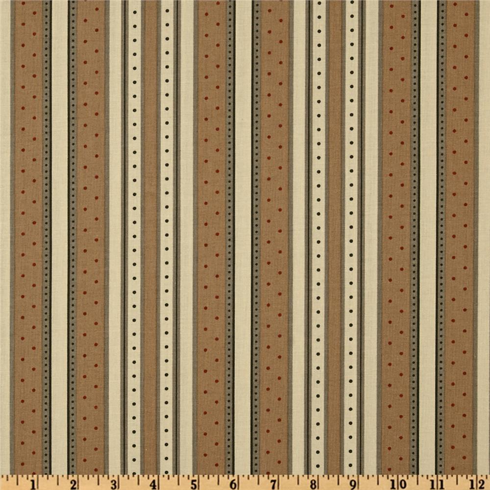 Moda Holiday In The Pines Holiday Stripe Ivory/Honey