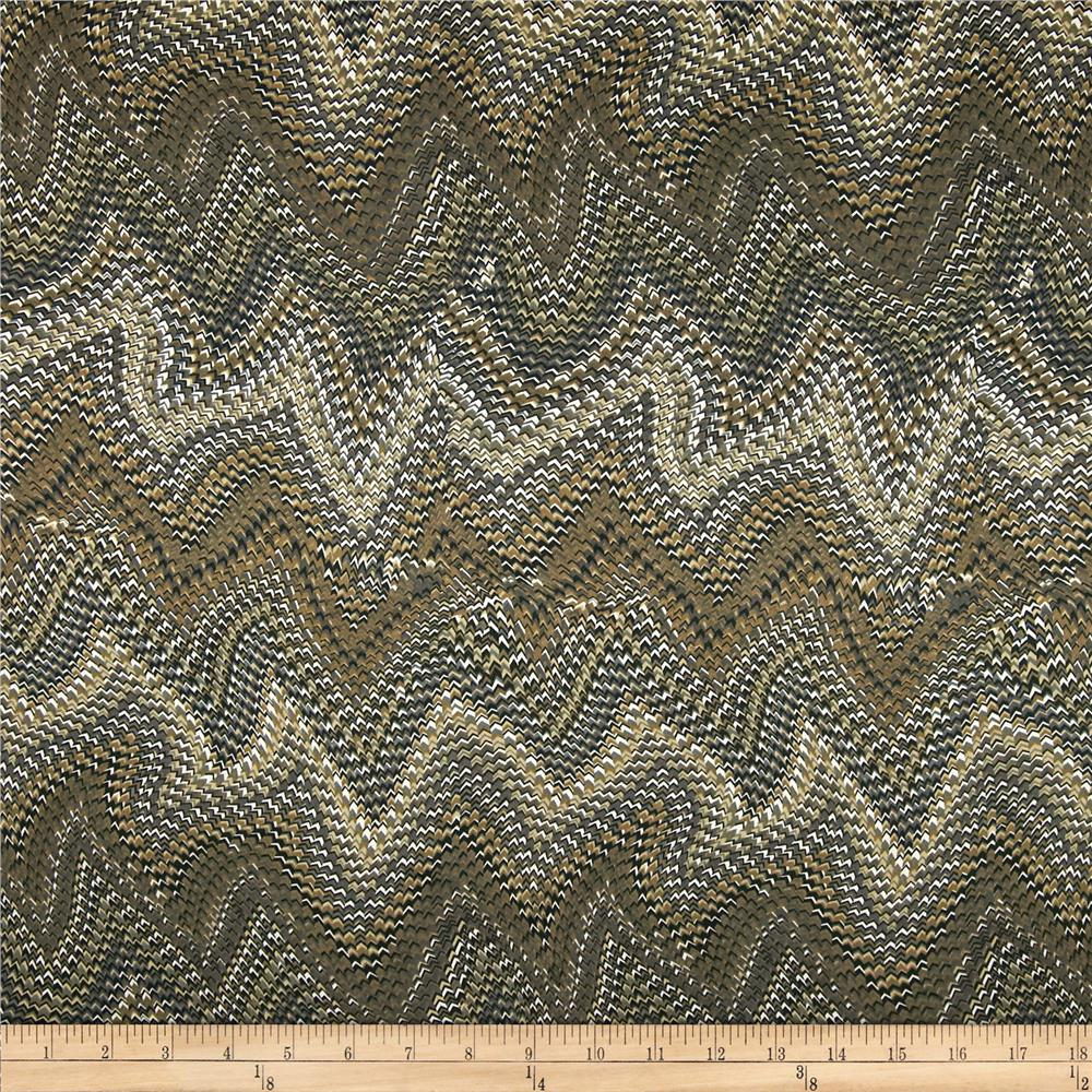 Isabella Satin Abstract Chevron Brown