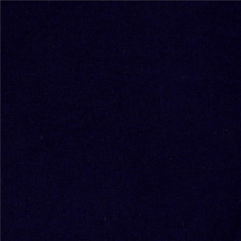 Rayon Spandex Jersey Dark Navy Fabric By The Yard