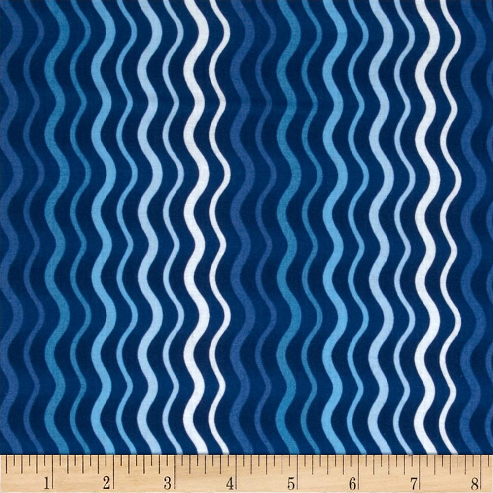 Winter Olympics Wavy Stripe Navy