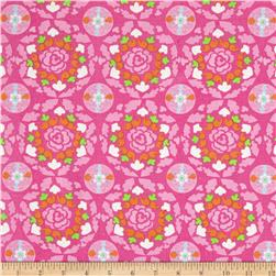 Dena Designs Sunshine Linen Blend Circle Pink Fabric
