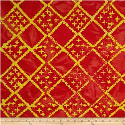 Indian Batiks Diamond Grid Orange