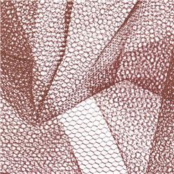 Nylon Net Brown Fabric