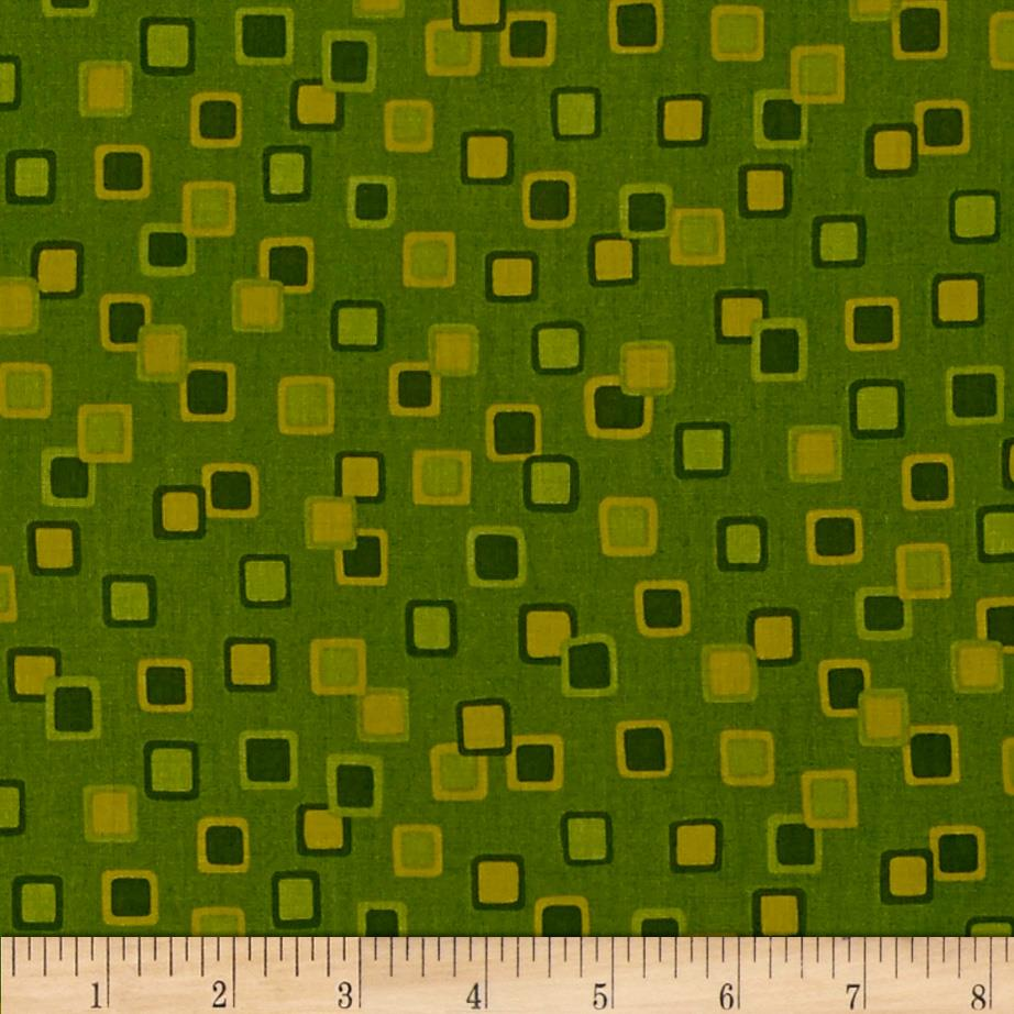 Season's Best-Fall Geo Squares Green