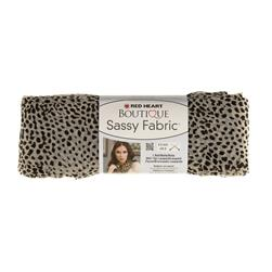 Red Heart Boutique Sassy Fabric White Cheetah