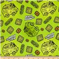 Scooby Doo Tonal Dots & Icons Lime