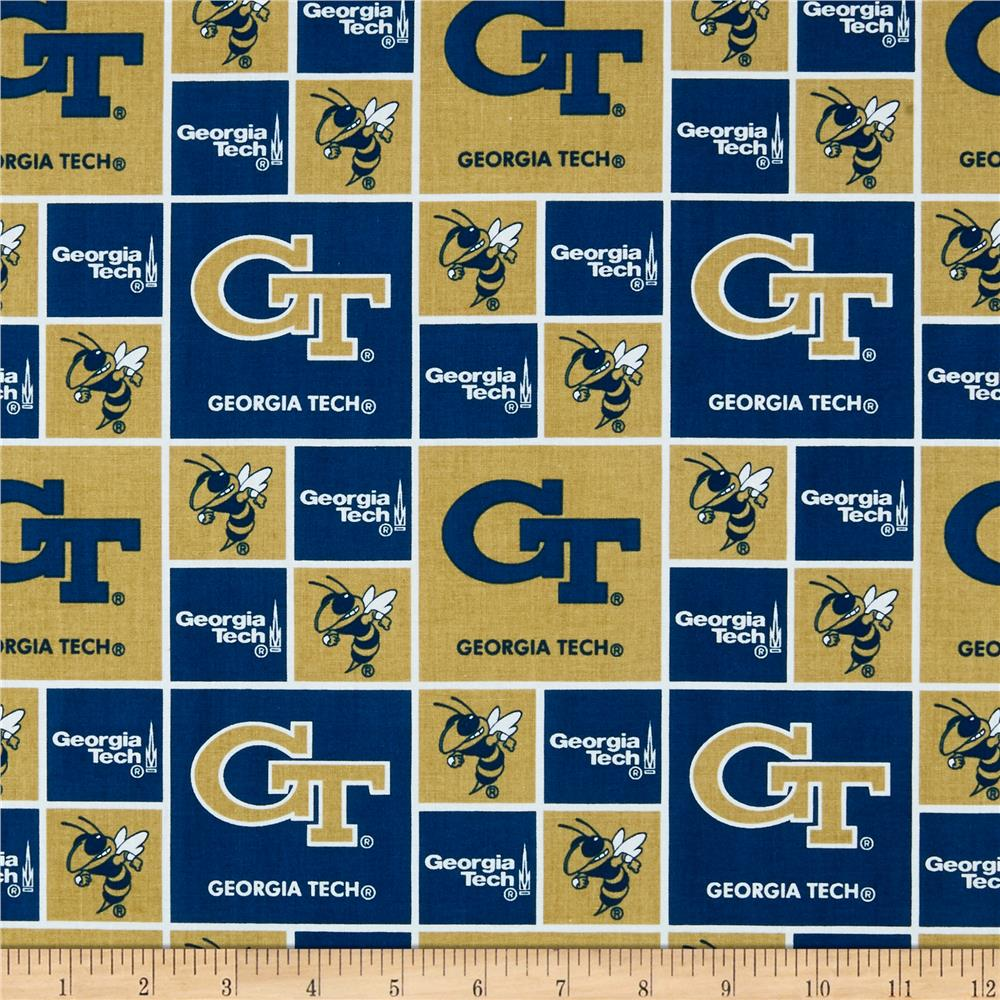 Collegiate Cotton Broadcloth Georgia Tech Gold