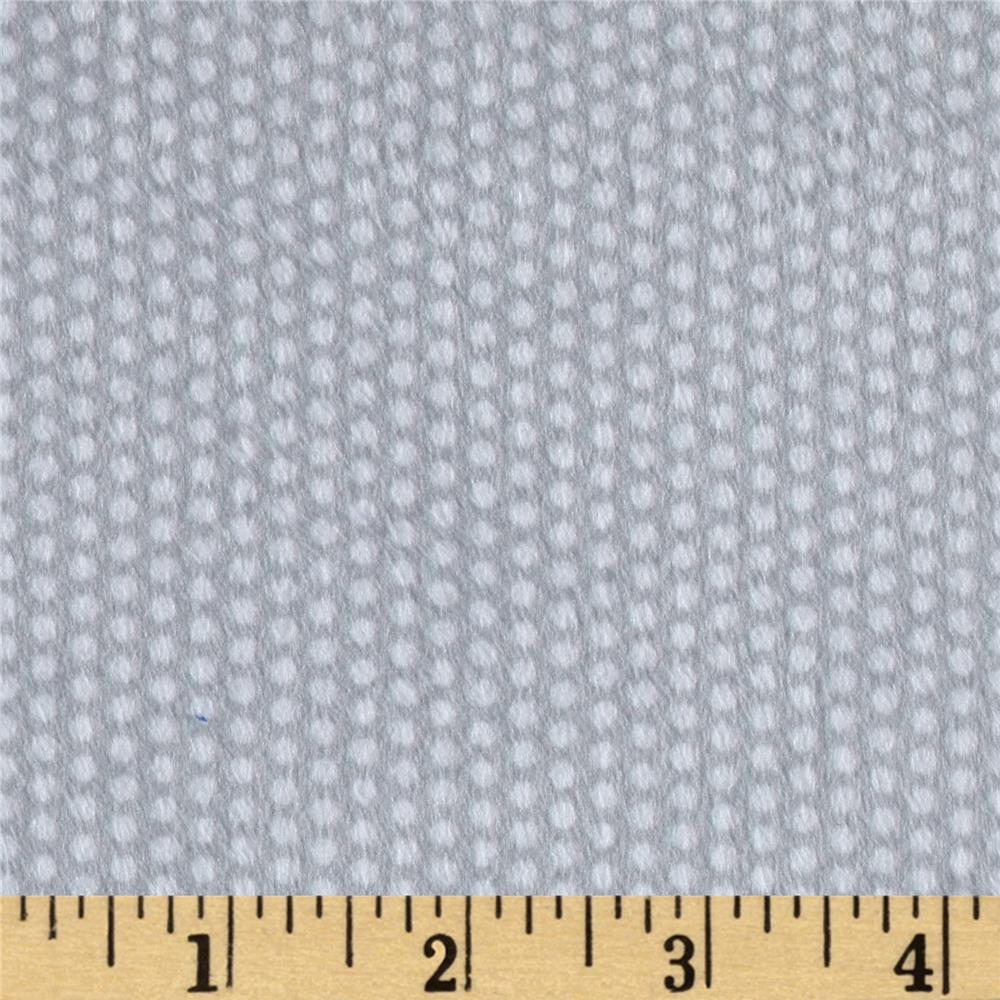 Minky Swiss Dot Grey/White