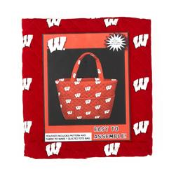 Collegiate Quilted Tote University of Wisconsin