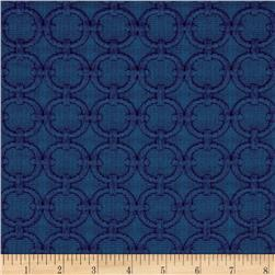 Waverly Full Circle Matelasse Blue Marine Fabric
