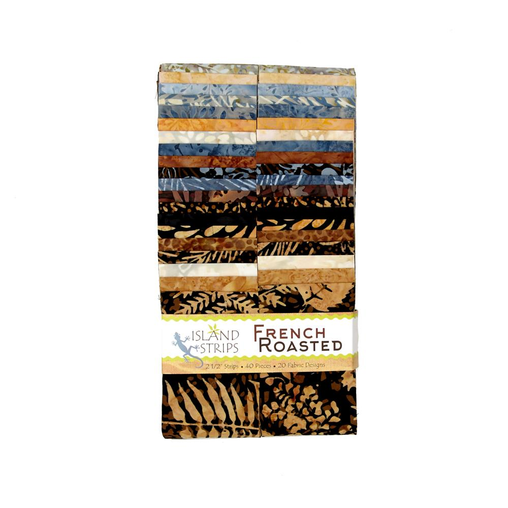 "French Roasted 2.5"" Batik Strip Pack"