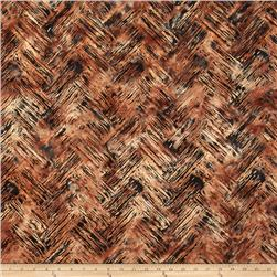 Bali Batiks Handpaints Chevron Brush Desert