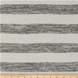 Designer Yarn Dyed Stripe Jersey Knit Grey/Cream