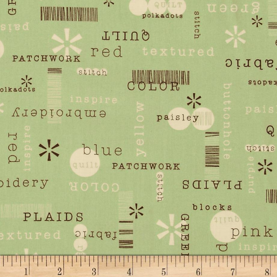 Word Play Patchwords Green