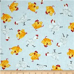 Susybee Pippa & Chicks Chicks Allover Blue