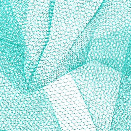 Nylon Net Aqua Fabric By The Yard