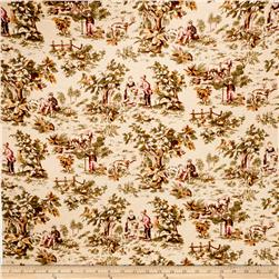 Jaclyn Smith Toile Blend Berry