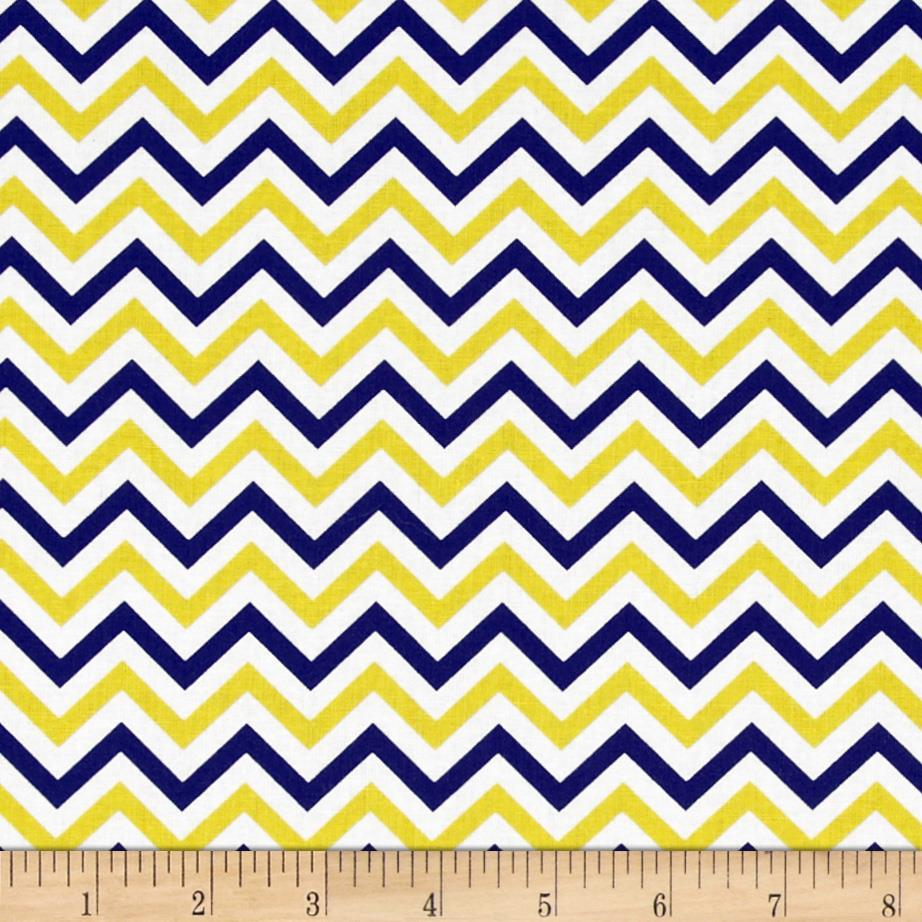 Ups & Downs Chevron Navy/Yellow