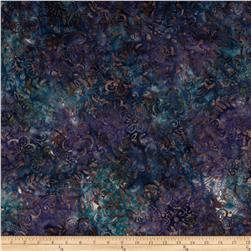 Batavian Batiks Medium Floral Vine Navy Purple