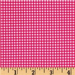 Michael Miller Mini Mikes Tiny Gingham Fuchsia