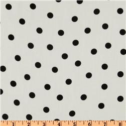 Rayon Shirting Polka Dots White/Black