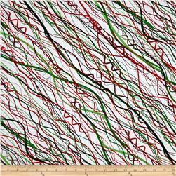 Holiday Cheer Streamer White/Green/Red
