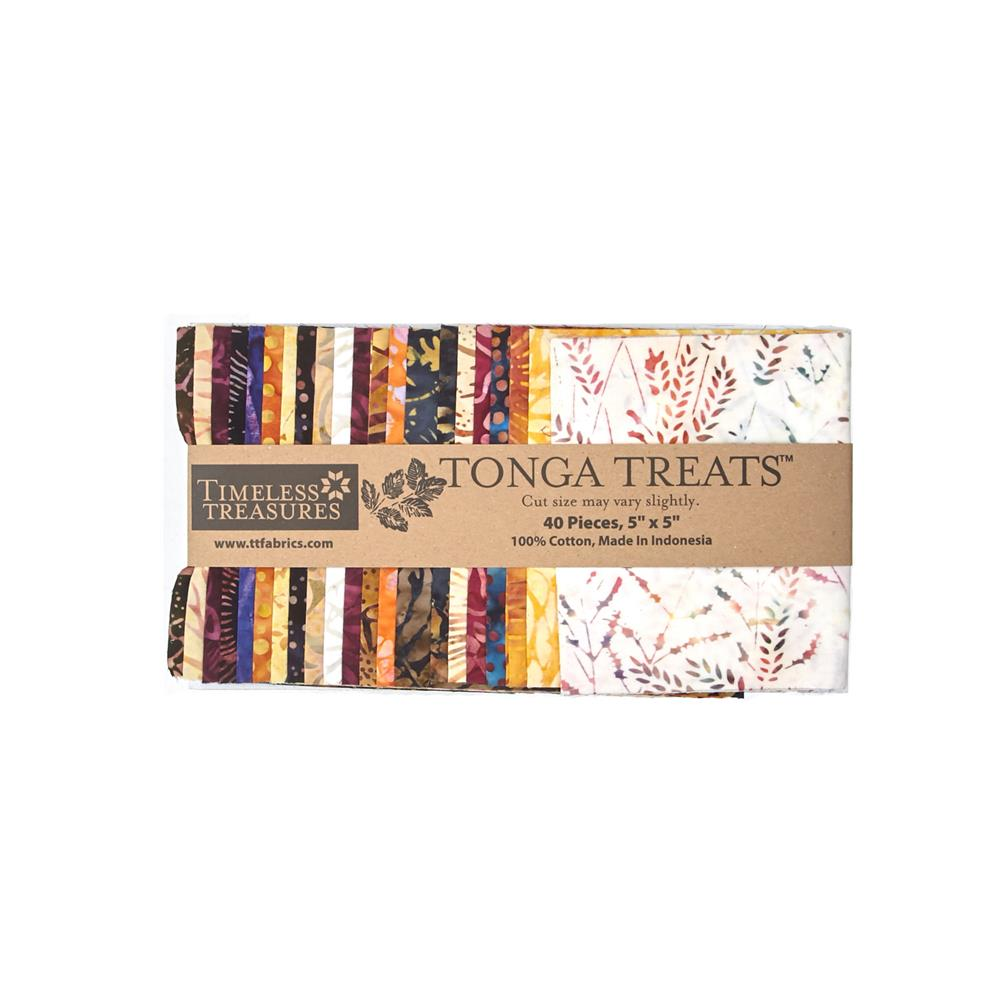 Timeless Treasures Tonga Batik Fig 5 In. Squares