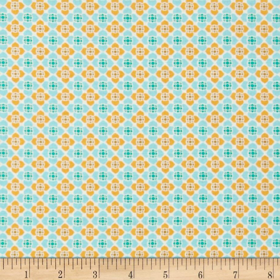 Visual Effects Geometric Flower Yellow/Blue