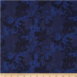Essentials 108'' Wide Quilt Back Flourish Navy Fabric