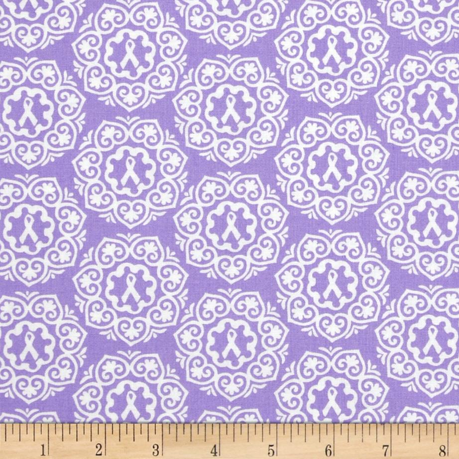 Project Pink Ribbon Medallions Lavender