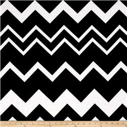 Jersey Knit Oversized Chevron Black