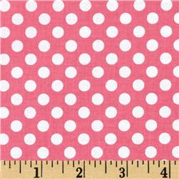 Riley Blake Dots Small Hot Pink Fabric