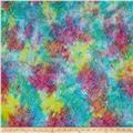 Kaufman Batiks To The Point Peaks Rainbow