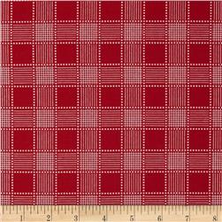 Red Plaid Red Fabric